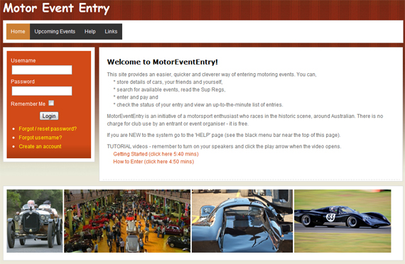 Motor Event Entry