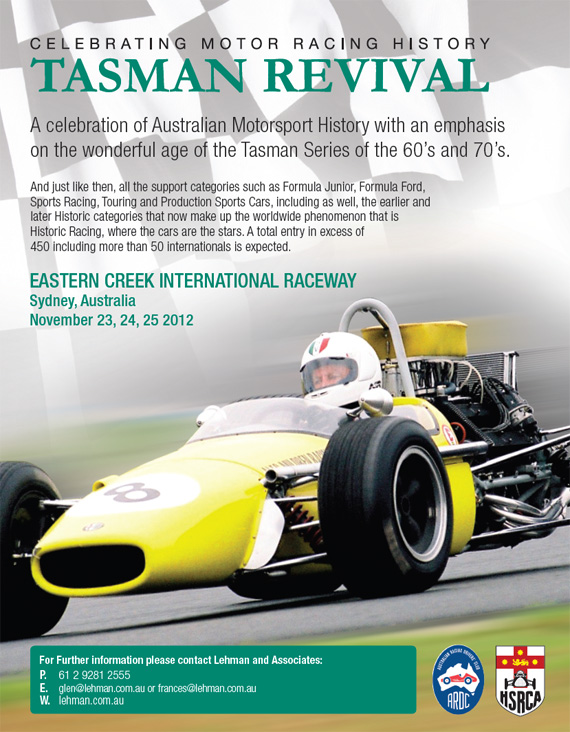 The 2012 Tasman Revival: Celebrating Motor Racing History